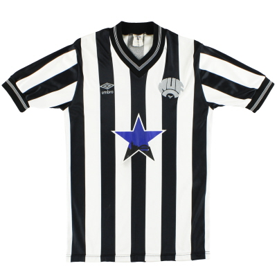 1983-86 Newcastle Umbro Match Worn Home Shirt #18 M