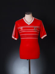 1984-86 Wales Match Issue Home Shirt #7 M