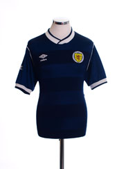 1985-88 Scotland Home Shirt L