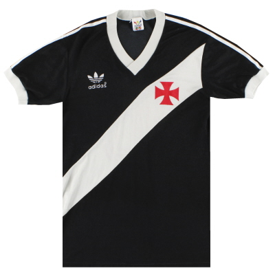 1985 Vasco Da Gama adidas Away Shirt #10 S