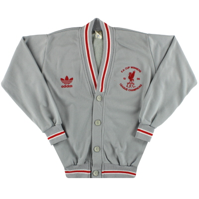 1986-87 Liverpool adidas 'Double Winners' Cardigan S