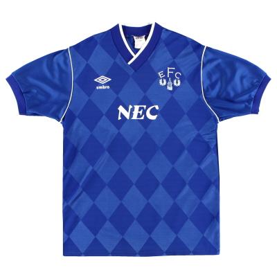 1986-89 Everton Umbro Home Shirt L