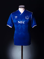 1986-89 Everton Home Shirt S