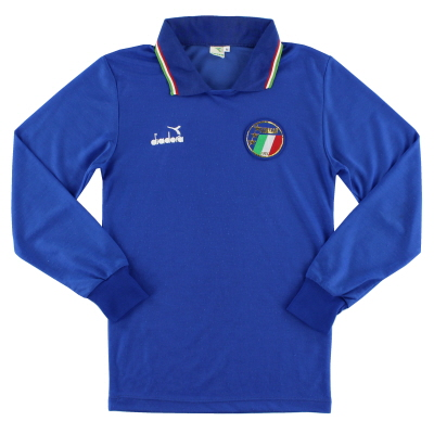 1986-90 Italy Home Shirt L/S *Mint* M