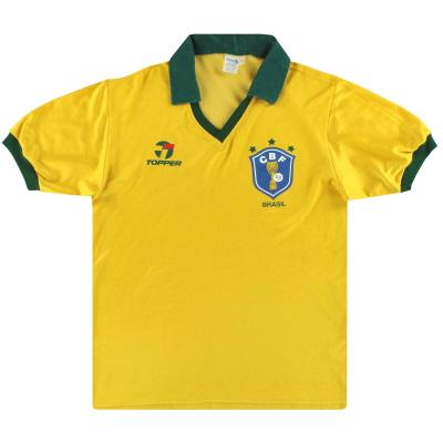 1986 Brazil Topper Home Shirt L