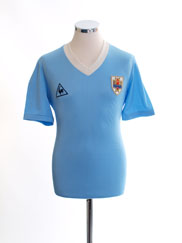 1986 Uruguay Match Issue Home Shirt #13 vs. Wales