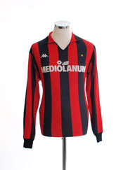 1987-88 AC Milan Home Shirt L/S XL