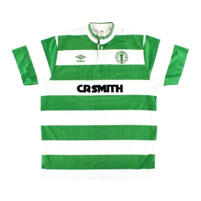1987-89 Celtic Umbro Centenary Home Shirt *Mint* L