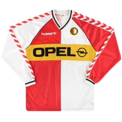 1987-89 Feyenoord Hummel Home Shirt L/S XL