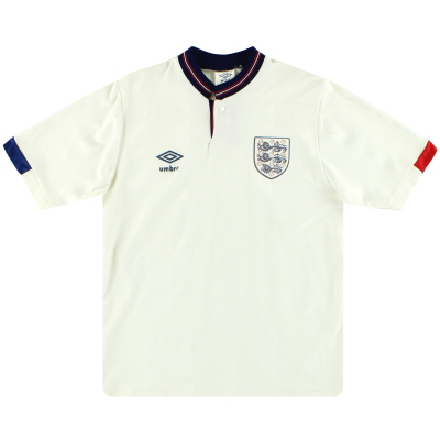 1987-90 England Umbro Home Shirt M