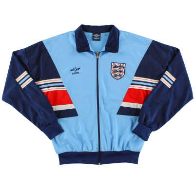 1987-90 England Umbro Track Jacket *As New* L