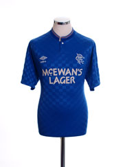 1987-90 Rangers Home Shirt L
