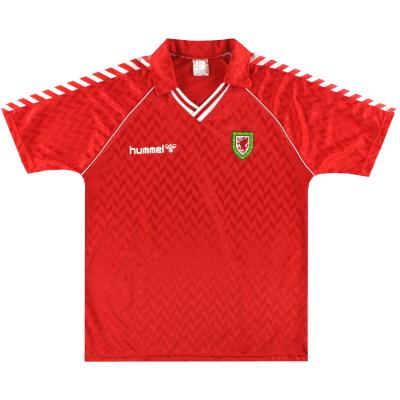1987-90 Wales Hummel Home Shirt *Mint* XL