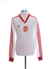 1987 Czechoslovakia Match Issue Home Shirt L/S #7 (v Wales) L
