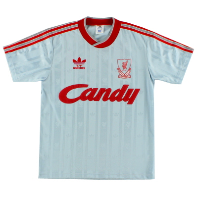 1988-89 Liverpool adidas Away Shirt L