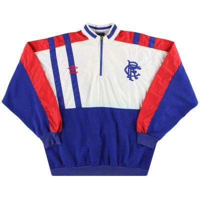 1988-89 Rangers Umbro 1/4 Zip Sweatshirt M