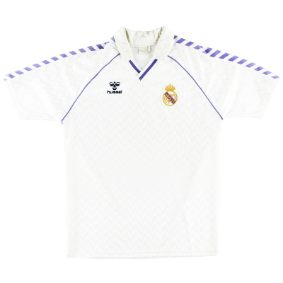 1988-89 Real Madrid Home Shirt L