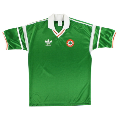 1988-90 Ireland adidas Home Shirt #7 *Mint* L