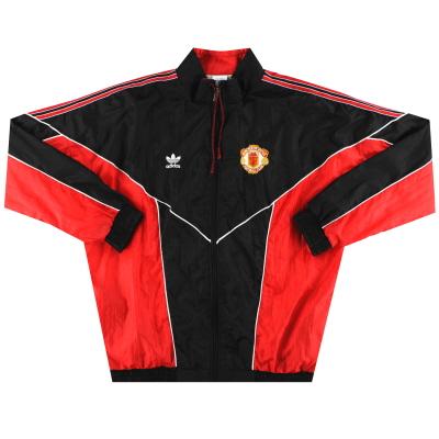 1988-90 Manchester United adidas Shell Jacket S