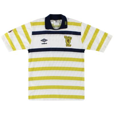 1988-91 Scotland Umbro Away Shirt L.Boys