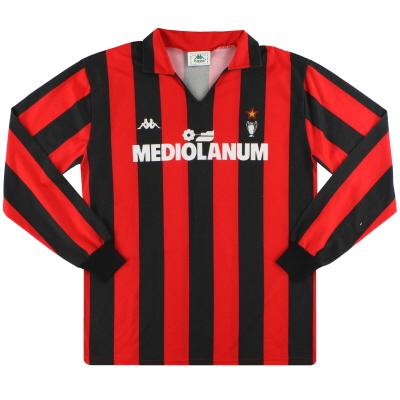 1989-90 AC Milan Kappa Home Shirt L/S XL