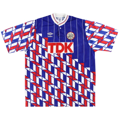 1989-90 Ajax Umbro Away Shirt *Mint* XL
