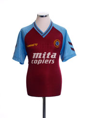 1989-90 Aston Villa Home Shirt L