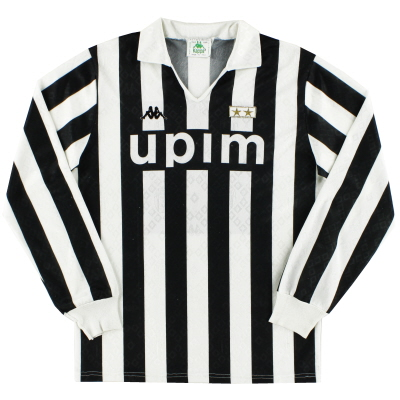 1989-90 Juventus Home Shirt L/S L