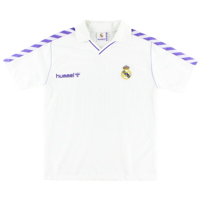 1989-90 Real Madrid Home Shirt *Mint* L