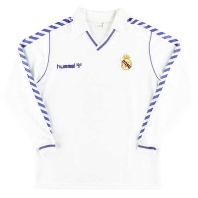 1989-90 Real Madrid Player Issue Home Shirt L/S XL