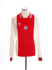 1989-91 Ajax Home Shirt L/S XL
