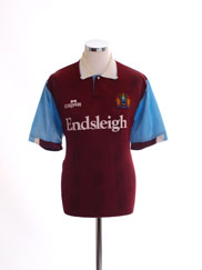 1989-91 Burnley Home Shirt XL