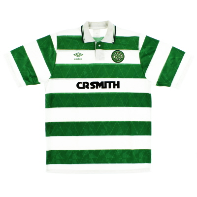 1989-91 Celtic Home Shirt L