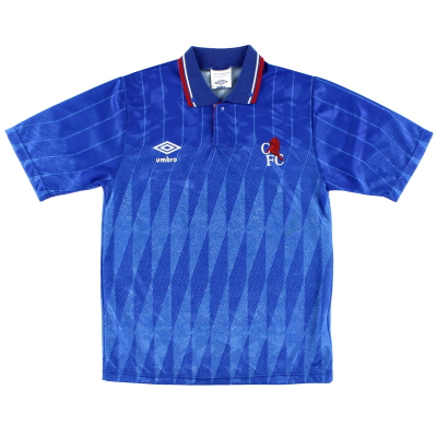 1989-91 Chelsea Umbro Home Shirt L