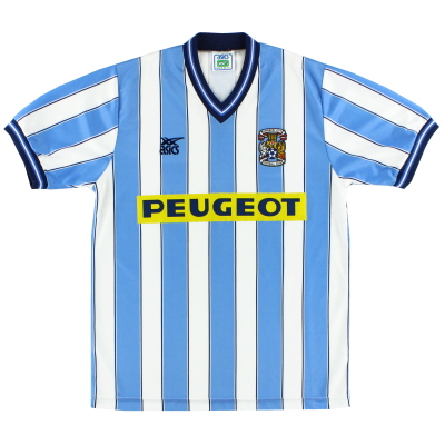 1989-91 Coventry Asics Home Shirt L