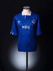 1989-91 Everton Home Shirt *As New* S