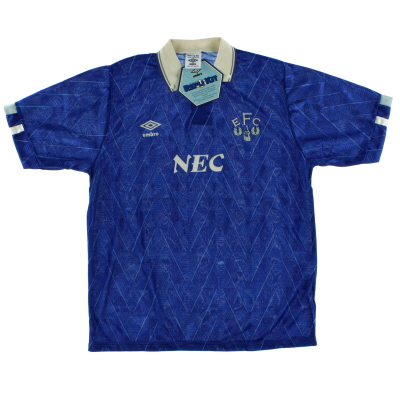 1989-91 Everton Home Shirt *w/tags* L