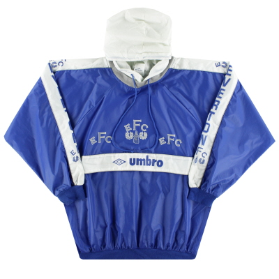 1989-91 Everton Umbro Hooded Drill Top *Mint* M