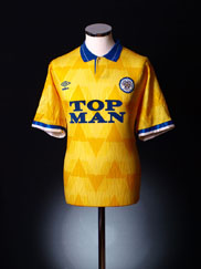 1989-91 Leeds Away Shirt L