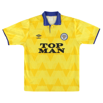 1989-91 Leeds Umbro Away Shirt M