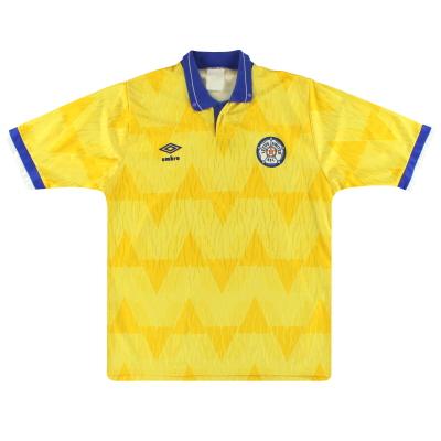 1989-91 Leeds Umbro Away Shirt L