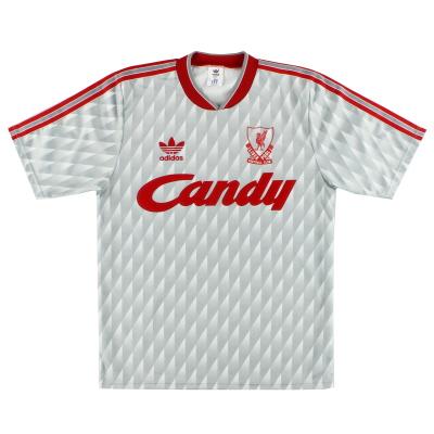 1989-91 Liverpool adidas Away Shirt L