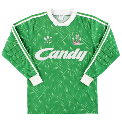 1989-91 Liverpool adidas Goalkeeper Shirt S