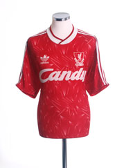 1989-91 Liverpool Home Shirt S