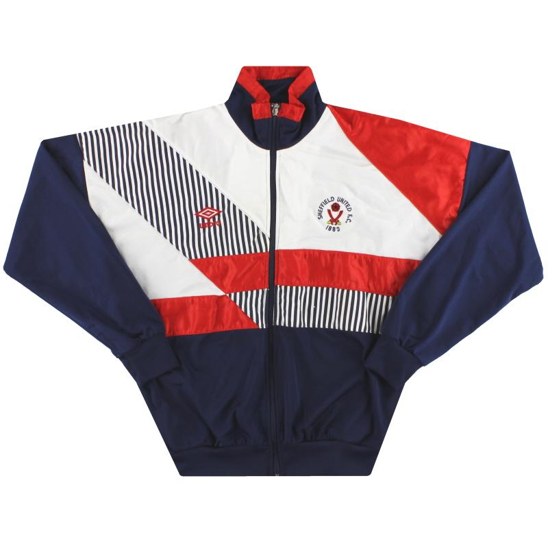 1989-91 Sheffield United Umbro Track Jacket XS