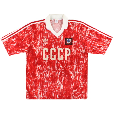 1989-91 Soviet Union adidas Home Shirt L