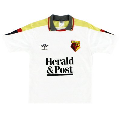 1989-91 Watford Umbro Away Shirt L.Boys