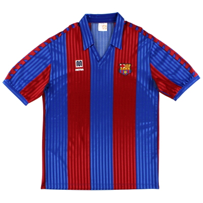 1989-92 Barcelona Meyba Home Shirt *Mint* XXL