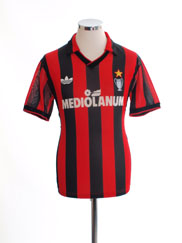 1990-91 AC Milan Home Shirt *Mint* S
