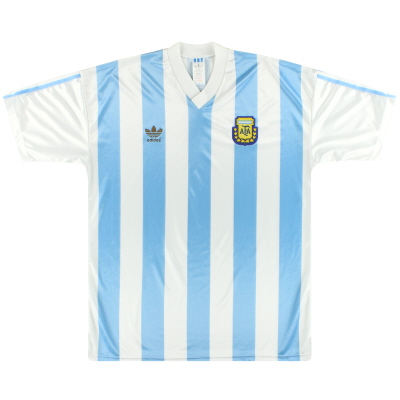 1990-91 Argentina adidas Home Shirt XL